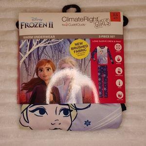 🎁NWT Cuddl Duds Disney Frozen 2 Girls PJ 2 pc Set